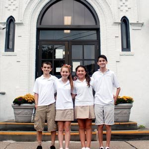 St. Peter's new officers (left to right) President Kieran Dennis, Vice President Julia Caccavo, Secretary Hannah Contino, and Treasurer Timmy Bergin