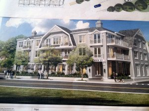 A rendering of the proposed Main Street project