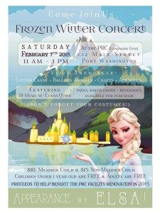 "The Parent Resource Center is holding a ""Frozen"" concert Feb. 7."