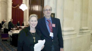 Port Washington School District Board of Education trustee Larry Greenstein with Senator Kirsten Gillibrand at the National School Boards Association (NSBA) 2015 Advocacy Institute in Washington, D.C.