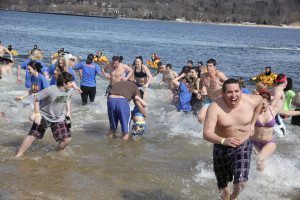 Brave souls take part in last year's Polar Plunge.