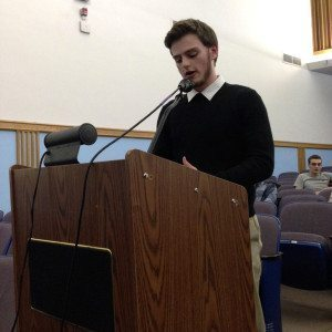 One of several Schreiber students who addressed the BOE last week