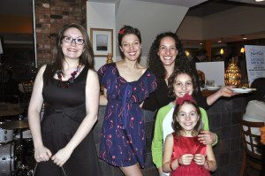 Bach To Rock performers  and Nissa Fine and family (Photo by Maddy Wiener)