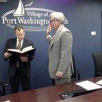 Robert Weitzner is sworn in for a sixth term as Port North Mayor.