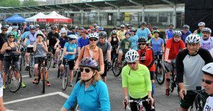 Riders starting out at the LIRR station