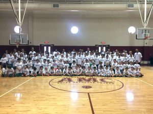 Hoops 101 staff and campers