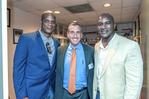 Darryl Strawberry, Dr. Jonathan Haas of Sands Point and Evander Holyfield