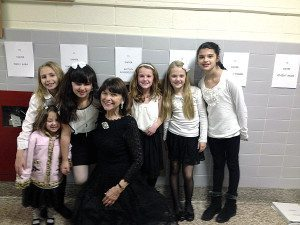 Feuss with her students at Northside Elementary School in Farmingdale.