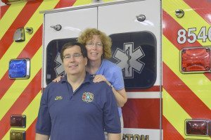 Ed Oldak and wife, Kathleen, happy to be Fire Medic volunteers.