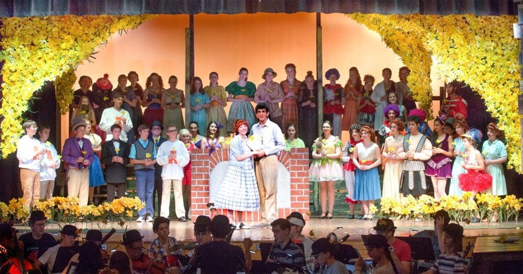 "The cast of Big Fish performing ""Daffodils"" (Photos by Linda Nutter)"