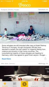 Photo taken by a Fresco user of refugees in Hungary