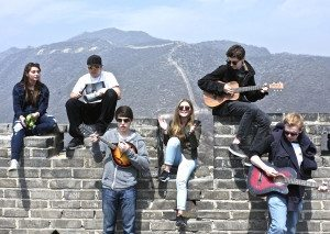 iSchool students on the Great Wall of China