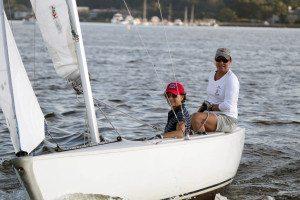 The winning team at the Manhasset Bay Race Week Ladies Sailing.  Skipper Cindy Jordan with crew, Jamie Gross.