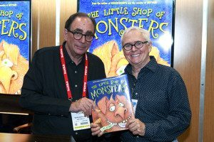 Authors R.L. Stine and Marc Brown with their new collaboration, The Little Shop of Monsters.
