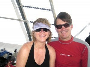 Dr. Scott Rex and his Port-bred wife, Laura, take precious moments out of their busy schedule to go scuba diving, a passion second only to his career as a Port Washington physician.