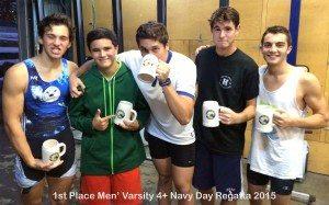 1st place Navy Day Regatta men's varsity 4+