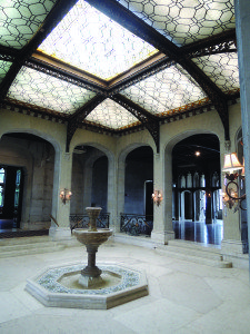 The first floor sunken palm court and Tiffany glass ceiling are awe-inspiring.
