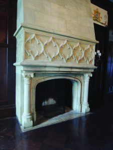 Marble fireplaces are exquisite.