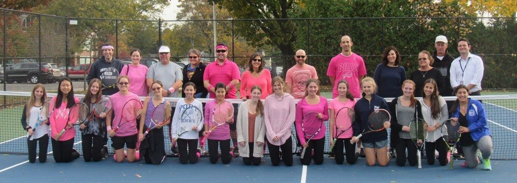 Breast Cancer Awareness Play with the Teachers Doubles Tournament participants