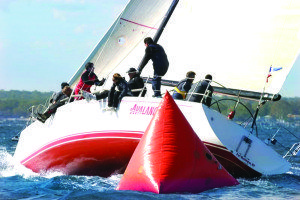 Avalanche is rounding the mark at a recent Manhasset Bay YC Fall Series.