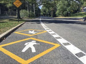 New pedestrian path on Stonytown Road