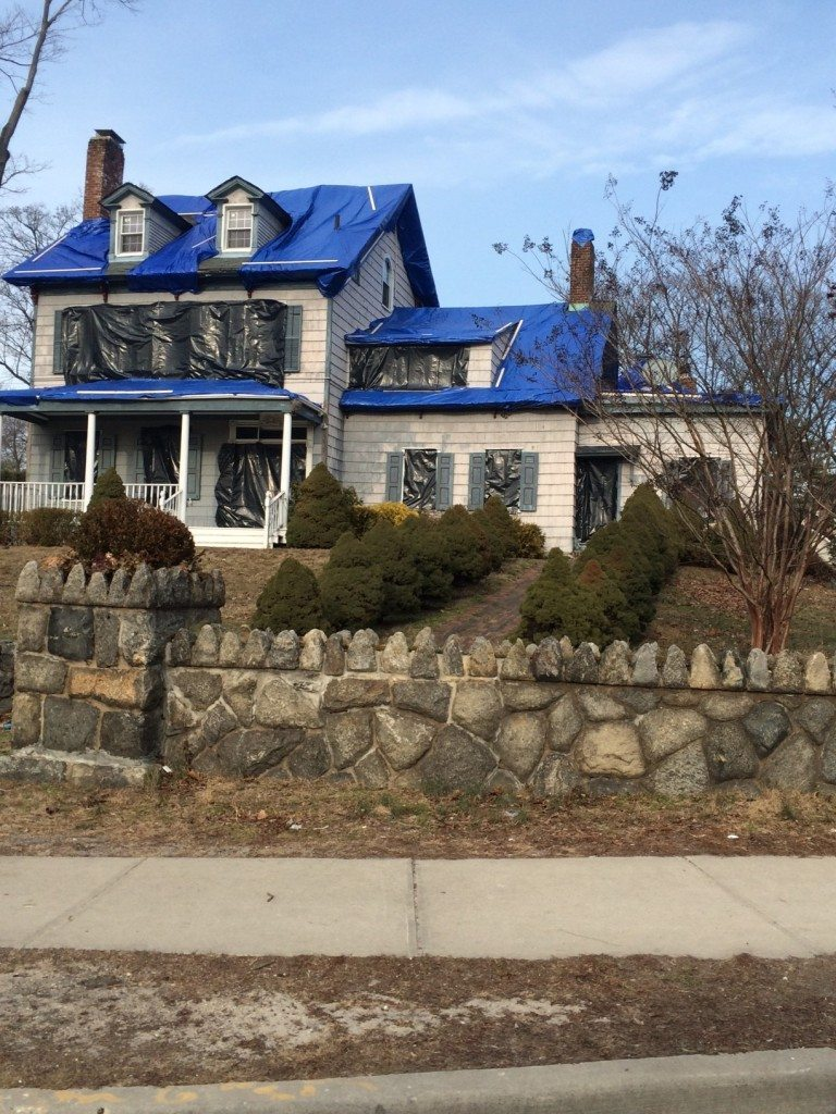 baxter house covered up port washington news