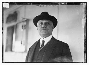 Photo shows Daniel Guggenheim (1856-1930), an American industrialist and philanthropist. (Source: Fl... -Date Created/Published: 1913 Aug. 6. - Library of Congress, Prints & Photographs Division, Bain Collection - Reproduction number: LC-DIG-ggbain-13729 (digital file from original negative) - Right