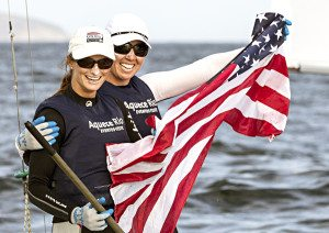 Haeger and Provancha at the United States Sailing Association Test Event.