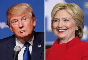 Hillary Clinton and Donald Trump faced off at the first presidential debate at Hofstra on Monday.