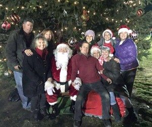 The 19th Annual Christmas Tree Lighting Committee with Santa and Mrs. Claus, of course.