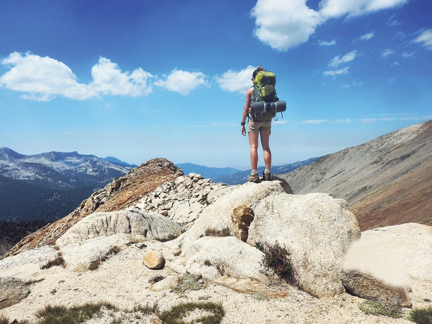 Backpacking in the  Sierra Nevadas