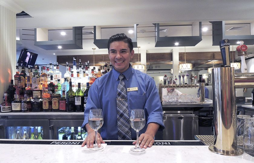 Marcus bartends at the renovated Finn MacCool's